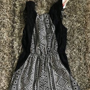 Rue21 Other - Black and white romper